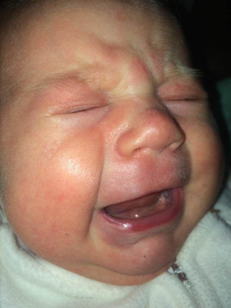 sad baby crying